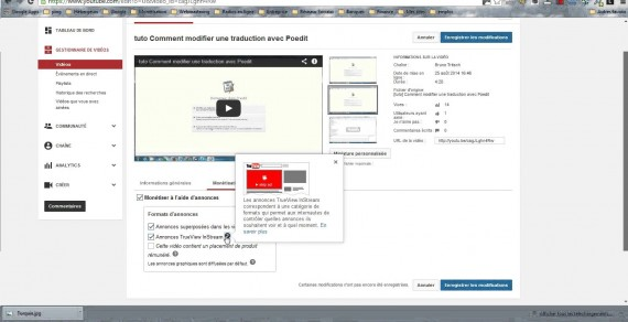 Activer la monétisation de ses vidéos YouTube